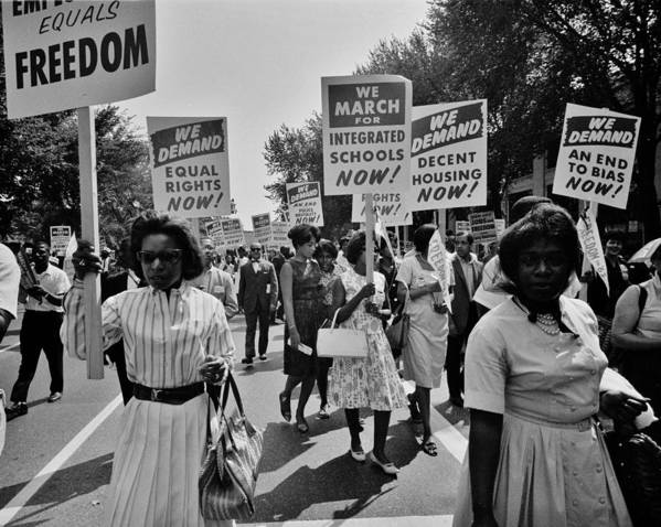 Civil Rights Poster featuring the photograph March For Equality by Benjamin Yeager