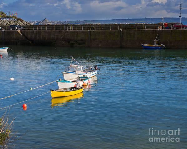 Mousehole Poster featuring the photograph Mousehole Cornwall by Louise Heusinkveld