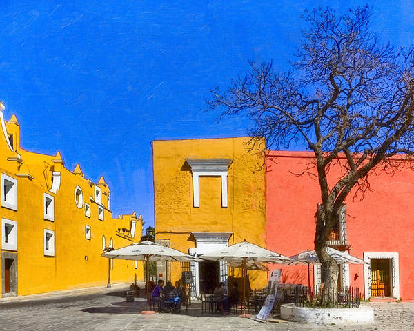 Colorful Poster featuring the photograph Relaxing In Colorful Puebla by Mark E Tisdale