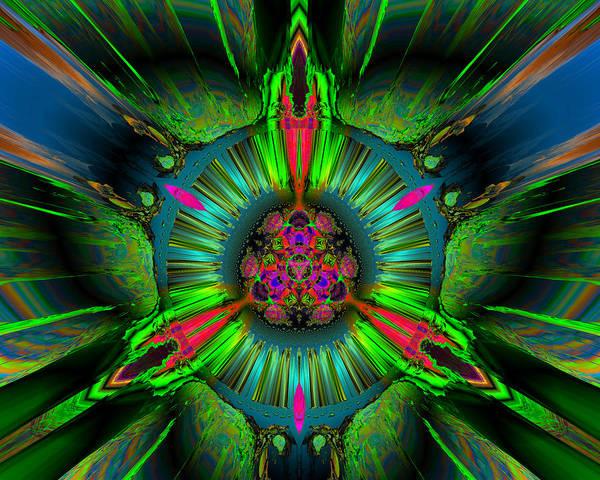 Digital Poster featuring the digital art Secret Garden by Claude McCoy