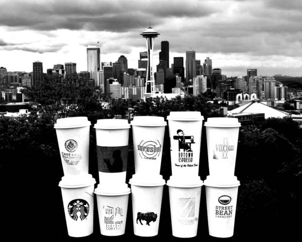 Seattle Poster featuring the photograph The Usual Seattle Suspects by Benjamin Yeager