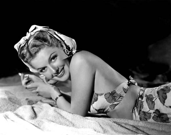 Bare Back Poster featuring the photograph Ann Sheridan, Portrait by Everett