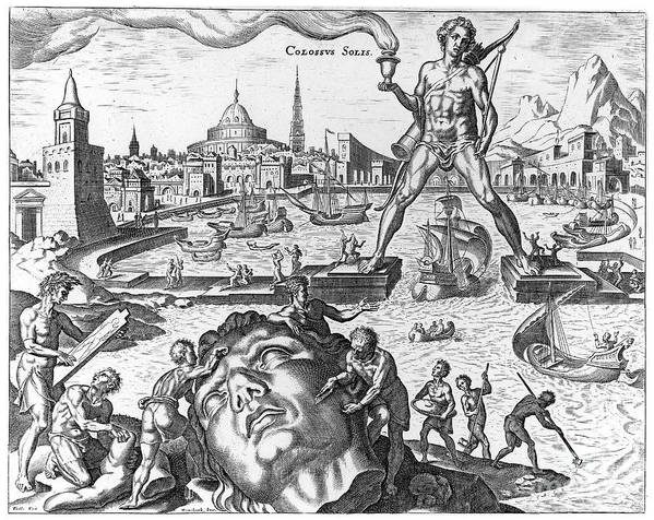 1638 Poster featuring the photograph Colossus Of Rhodes by Granger