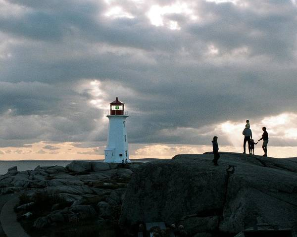 Lighthouse Poster featuring the photograph Evening At Peggy's Cove by John G Schickler