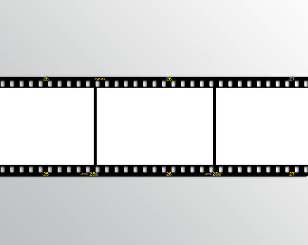 35mm Poster featuring the digital art Film Strip by Hans Engbers