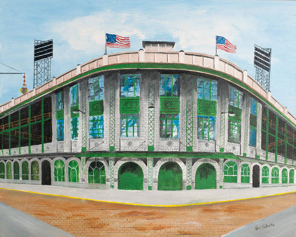 Forbes Field Poster featuring the painting Forbes Field by Paul Cubeta