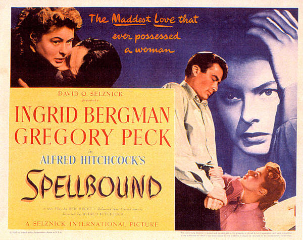 1940s Movies Poster featuring the photograph Spellbound, Ingrid Bergman, Gregory by Everett