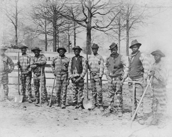 1880s Poster featuring the photograph The Chain Gang, Thomasville, Georgia by Everett