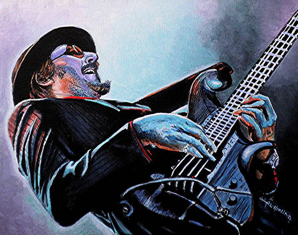 Les Claypool Poster featuring the painting Les Claypool by Al Molina