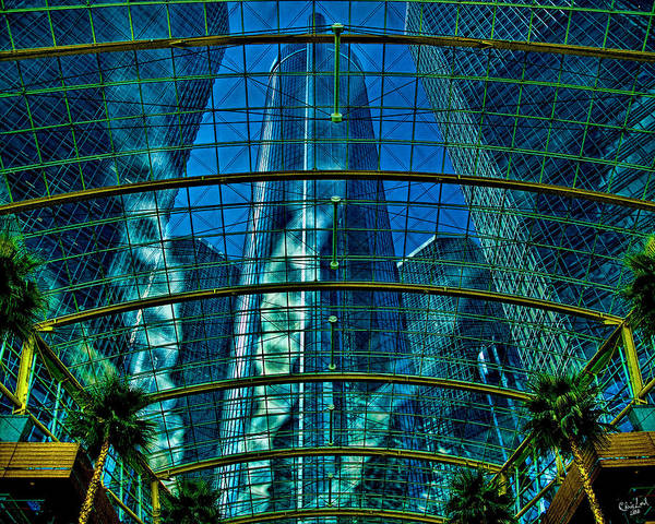Hdr Poster featuring the photograph Atrium Gm Building Detroit by Chris Lord