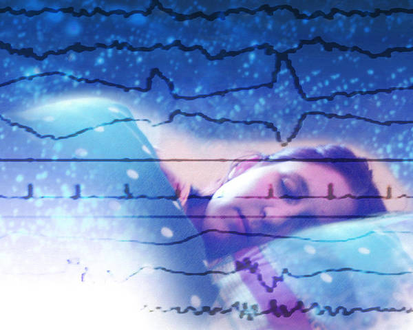 Electroencephalogram Poster featuring the photograph Dreaming by Hannah Gal