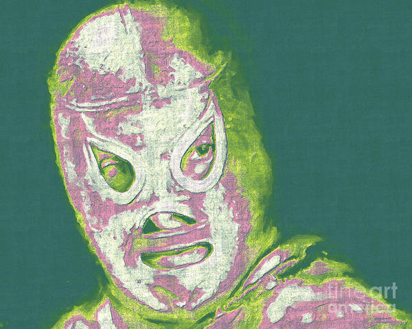 El Santo Poster featuring the photograph El Santo The Masked Wrestler 20130218v2m80 by Wingsdomain Art and Photography