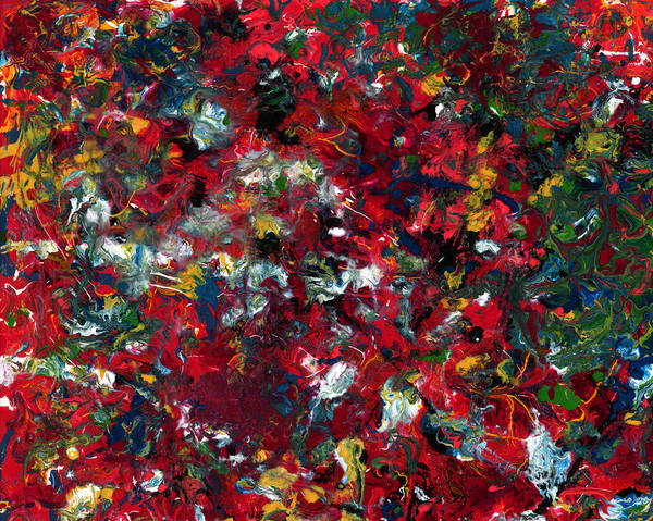 Abstract Poster featuring the painting Enamel 1 by James W Johnson
