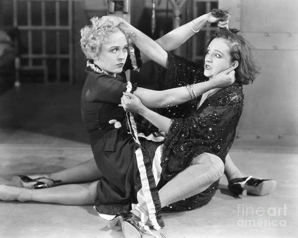 -fights- Poster featuring the photograph Film Still: Chicago, 1927 by Granger