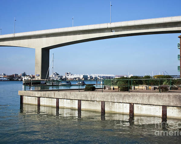 Itchen Bridge Southampton Poster featuring the photograph Itchen Bridge Southampton by Terri Waters