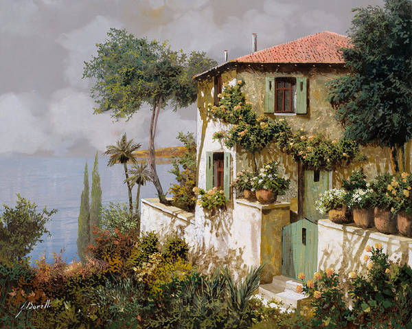 Llandscape Poster featuring the painting La Casa Giallo-verde by Guido Borelli