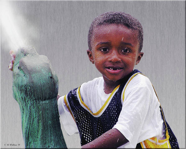 2d Poster featuring the photograph Philly Fountain Kid by Brian Wallace