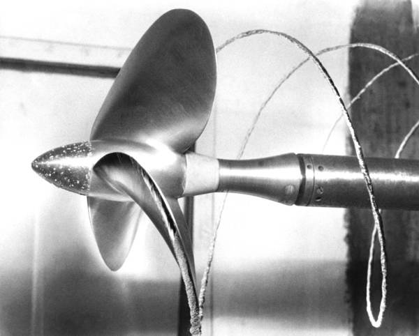Propeller Poster featuring the photograph Propeller Cavitation by National Physical Laboratory (c) Crown Copyright