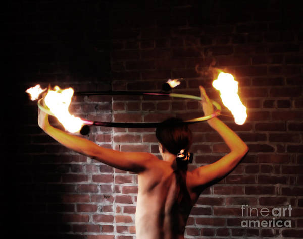 Nude Women Poster featuring the photograph Ring Of Fire by Steven Digman