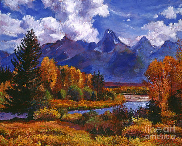 Rivers Poster featuring the painting River Valley by David Lloyd Glover
