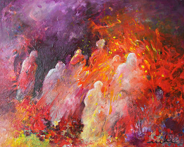 Impressionism Poster featuring the painting Souls In Hell by Miki De Goodaboom