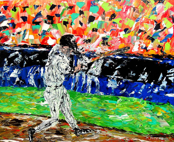 L Poster featuring the painting Bases Loaded by Mark Moore