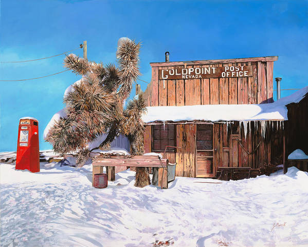 Gold Poster featuring the painting Goldpoint-nevada by Guido Borelli