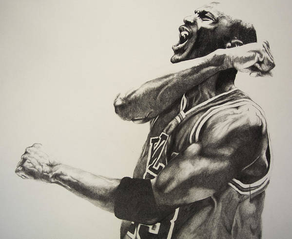 Michael Poster featuring the drawing Michael Jordan by Jake Stapleton