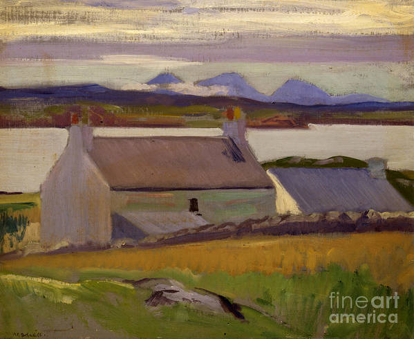 Cadell Poster featuring the painting Nightfall Iona by Francis Campbell Boileau Cadell