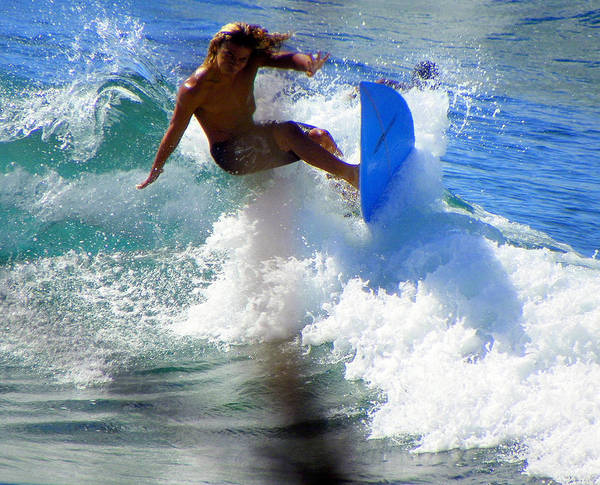 Surfers Poster featuring the photograph Wave Rider by Karen Wiles