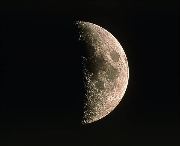 Moon Poster featuring the photograph Waxing Crescent Moon by Eckhard Slawik