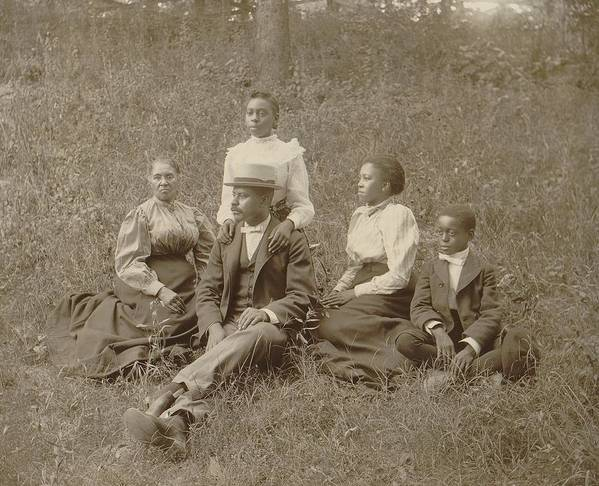 History Poster featuring the photograph Middle Class African American Family by Everett