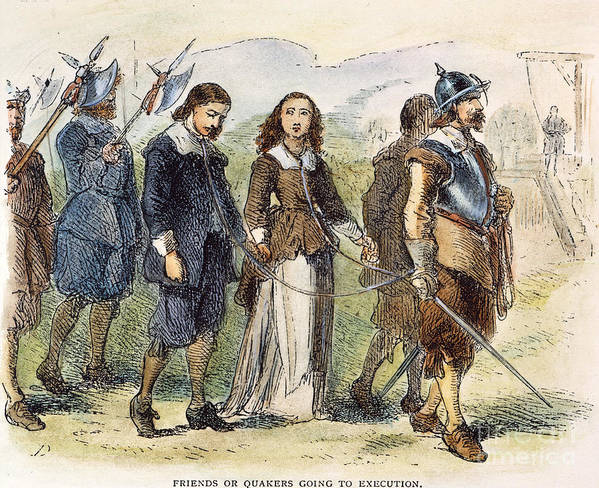 1659 Poster featuring the photograph Quakers: Mary Dyer, 1659 by Granger