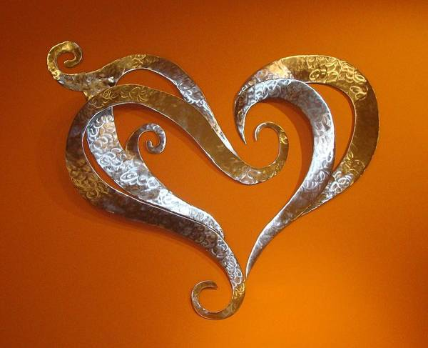 Hearts Poster featuring the sculpture Passion Hearts by Diane Snider