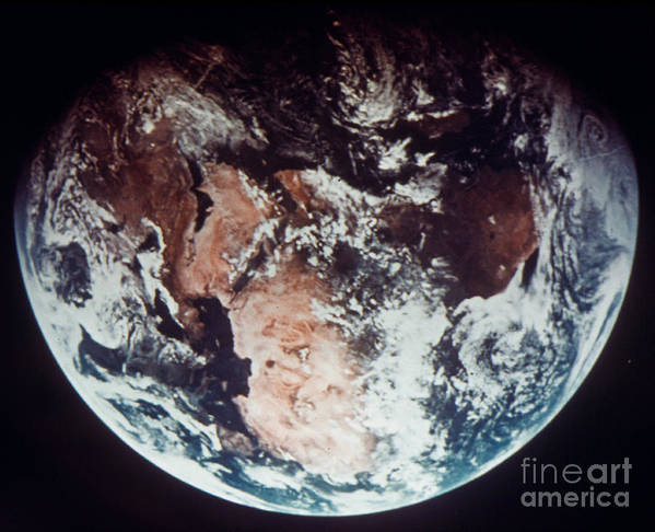 1970s Poster featuring the photograph Apollo 11: Earth by Granger