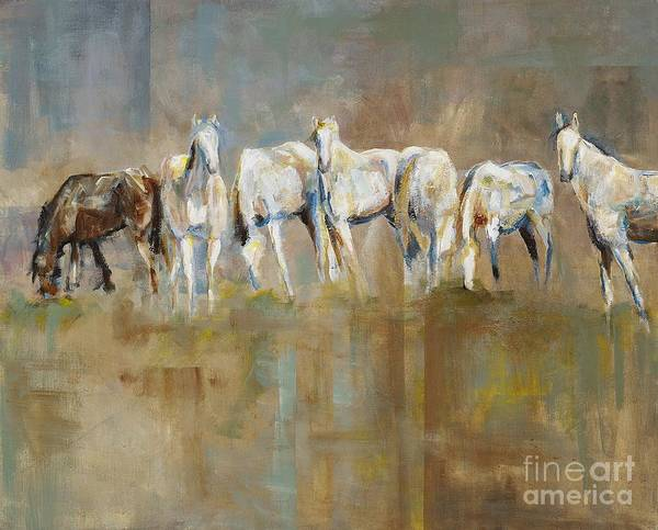Horses Poster featuring the painting The Horizon Line by Frances Marino