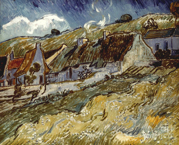 1890 Poster featuring the photograph Van Gogh: Cottages, 1890 by Granger