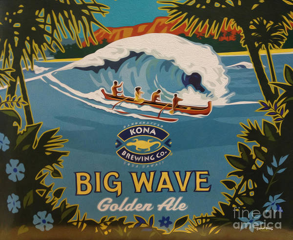 Big Wave Poster featuring the digital art Aloha Series 2 by Cheryl Young