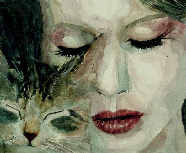 Lana Del Rey Poster featuring the painting Lana Del Rey And A Friend by Paul Lovering