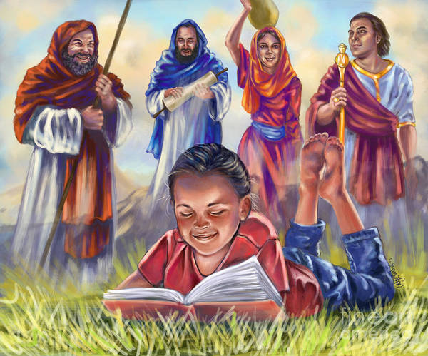 Christian Art Poster featuring the digital art Living Bible by Tamer and Cindy Elsharouni