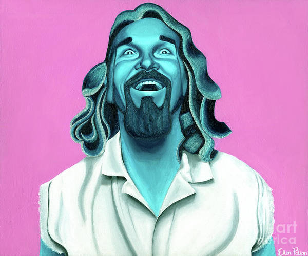 The Dude Paintings Poster featuring the painting The Dude by Ellen Patton