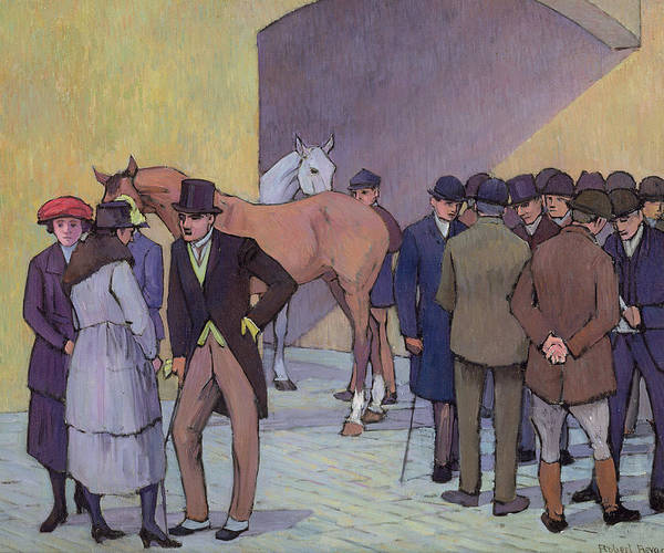 Morning Poster featuring the painting A Morning At Tattersall's by Robert Polhill Bevan