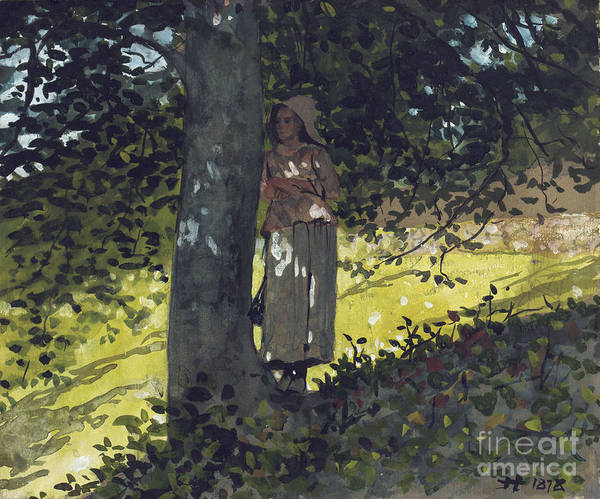 A Shady Spot Poster featuring the painting A Shady Spot by Winslow Homer