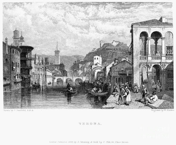 1833 Poster featuring the photograph Italy: Verona, 1833 by Granger