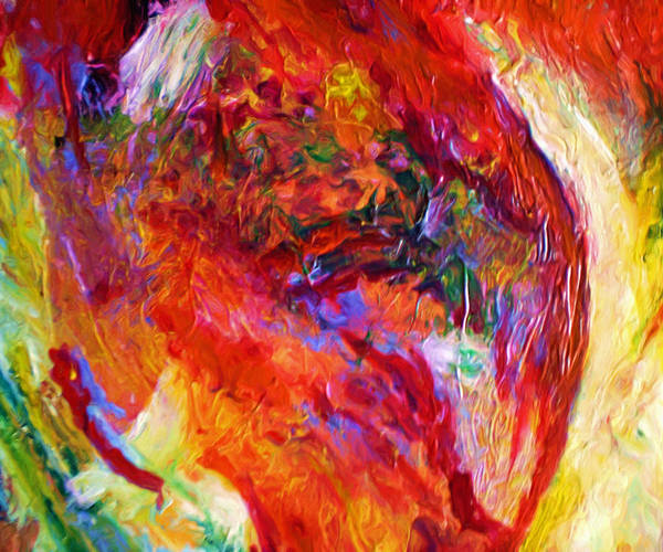 Abstract Poster featuring the painting Delight by Michael Durst