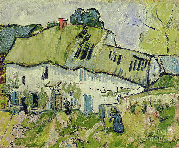The Farm In Summer Poster featuring the painting The Farm In Summer by Vincent van Gogh