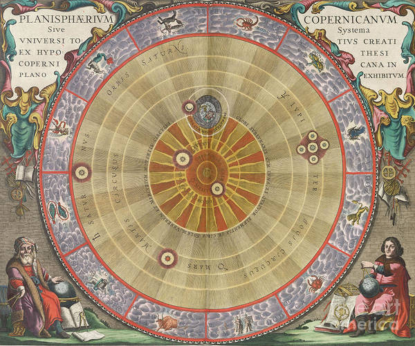 Solar System Poster featuring the photograph The Planisphere Of Copernicus Harmonia by Science Source