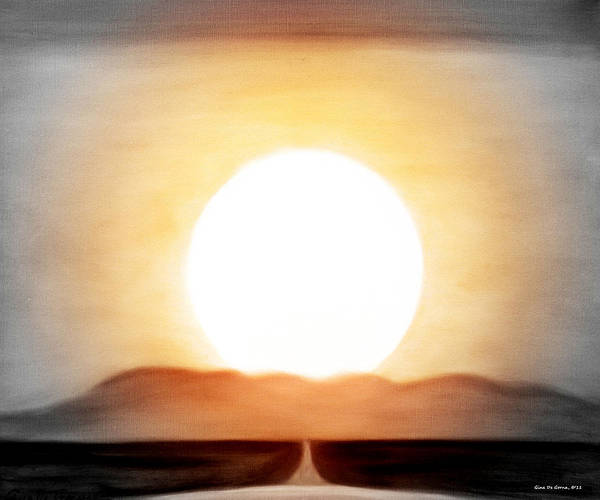 Sunset Poster featuring the painting True God by Gina De Gorna