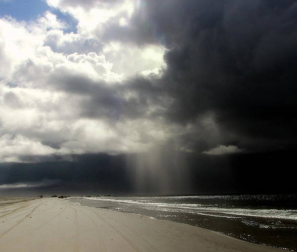 Stormy Skies Poster featuring the photograph Hurricane Glimpse by Karen Wiles