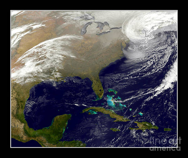 Blizzard Poster featuring the photograph 2013 Blizzard In Northeast Nasa by Rose Santuci-Sofranko